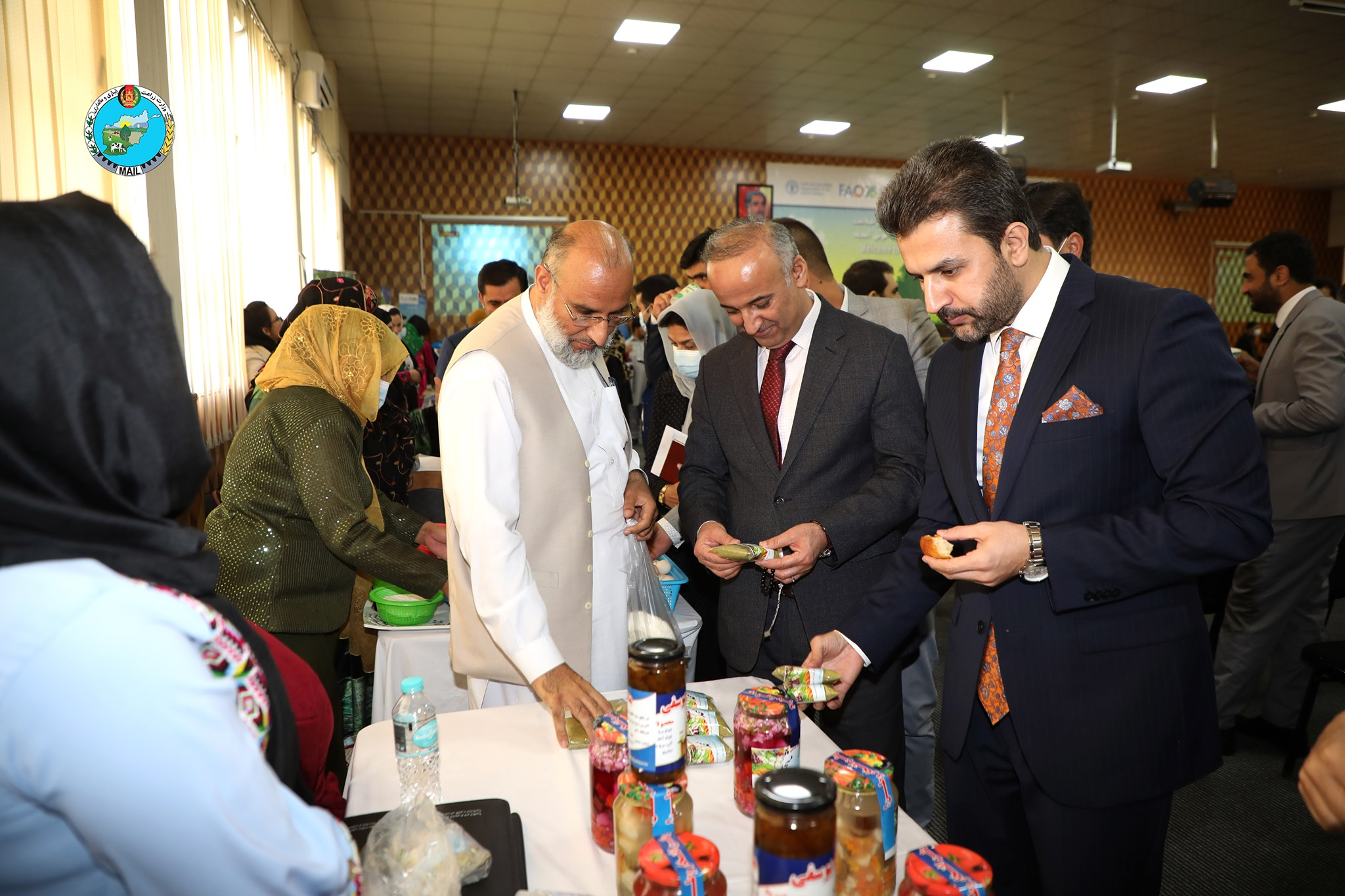 Food exhibition on celebration of the  World's Food Day at Ministry of Agriculture