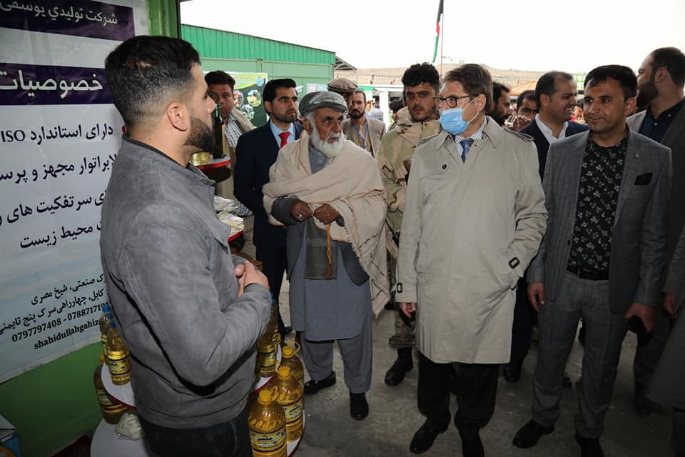Dr. Anwar al-Haq Ahady,MAIL Minister Minister, visited the booths on second day of exhibition.