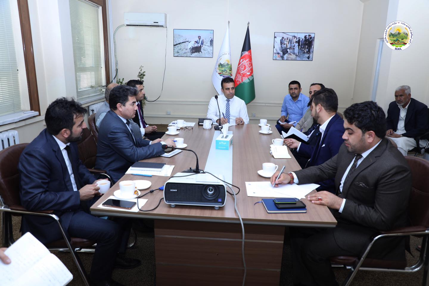 Holding a Meeting on Collecting Horticultural Products